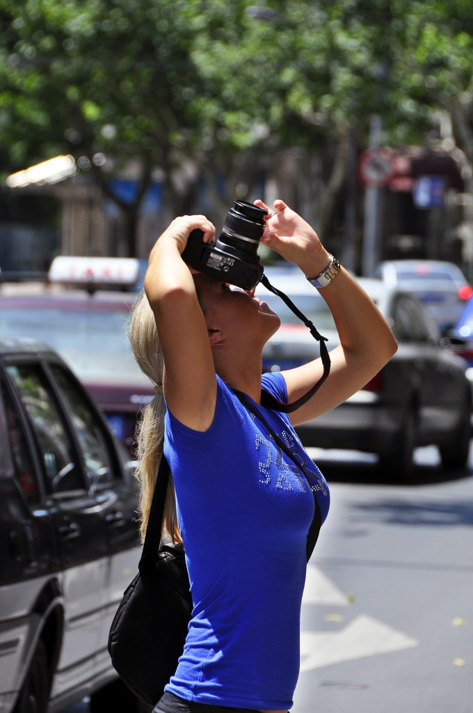 A student in Franc's Essential Photography Class