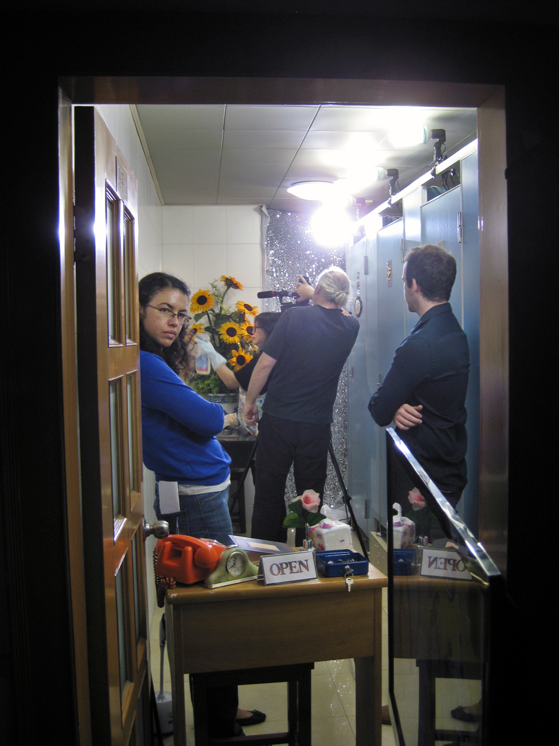 Toilet location is easily crowded (Photo: Sarah)