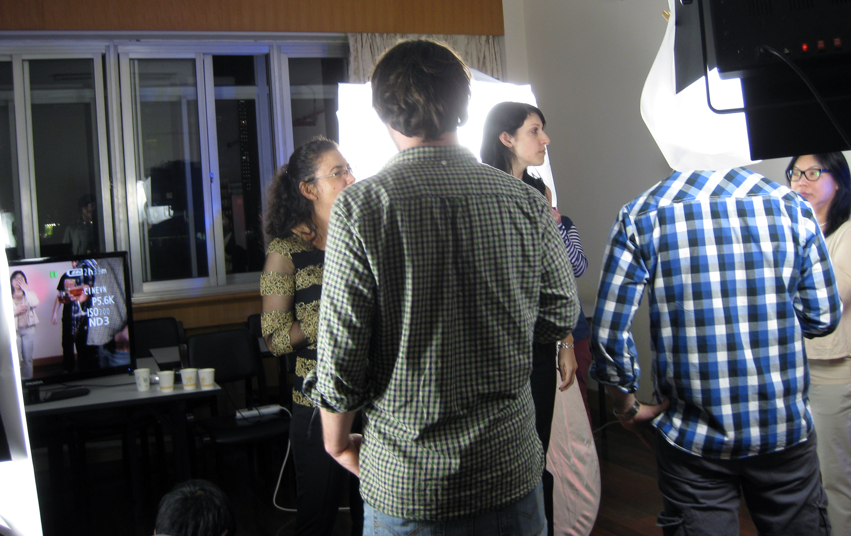 Party scene with crowd of students: 4 of them.(Photo: Sarah)