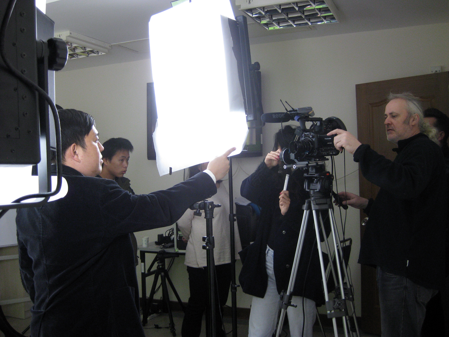 Light set up and shooting of the TVC scene.