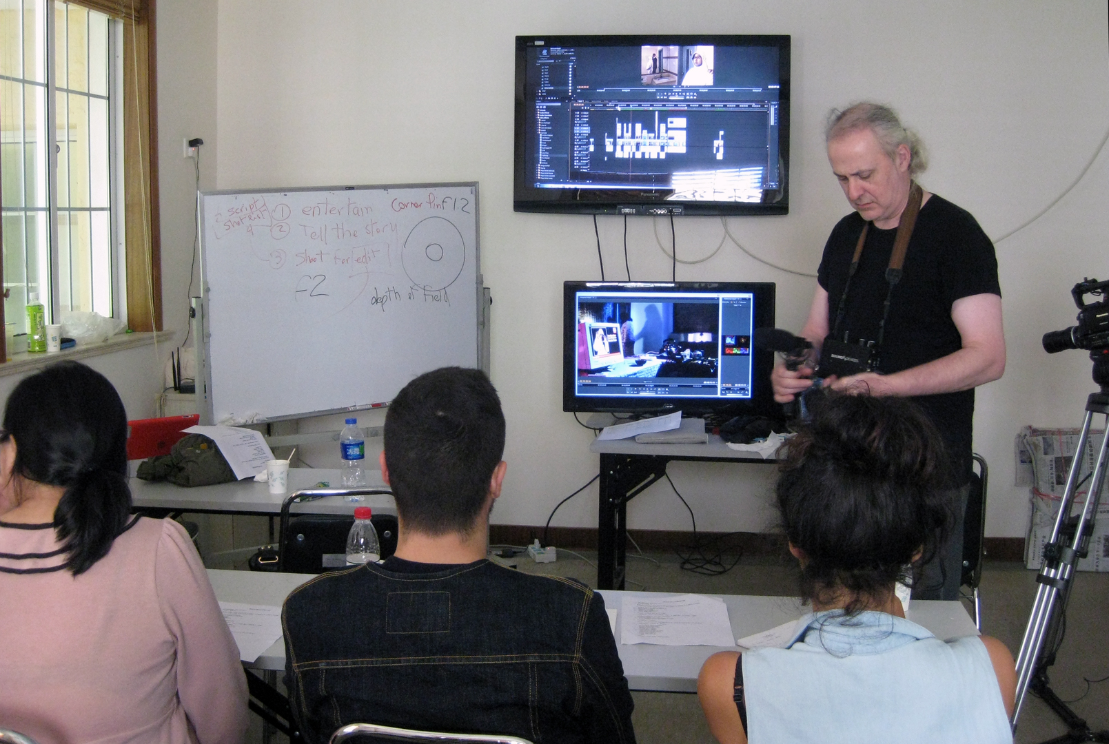 Speaking about editing of the short film