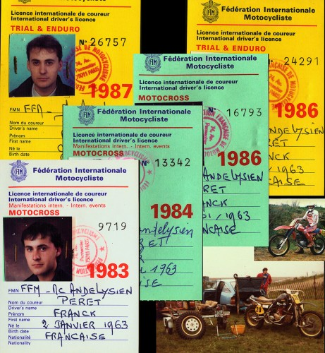 Some of my International race licence