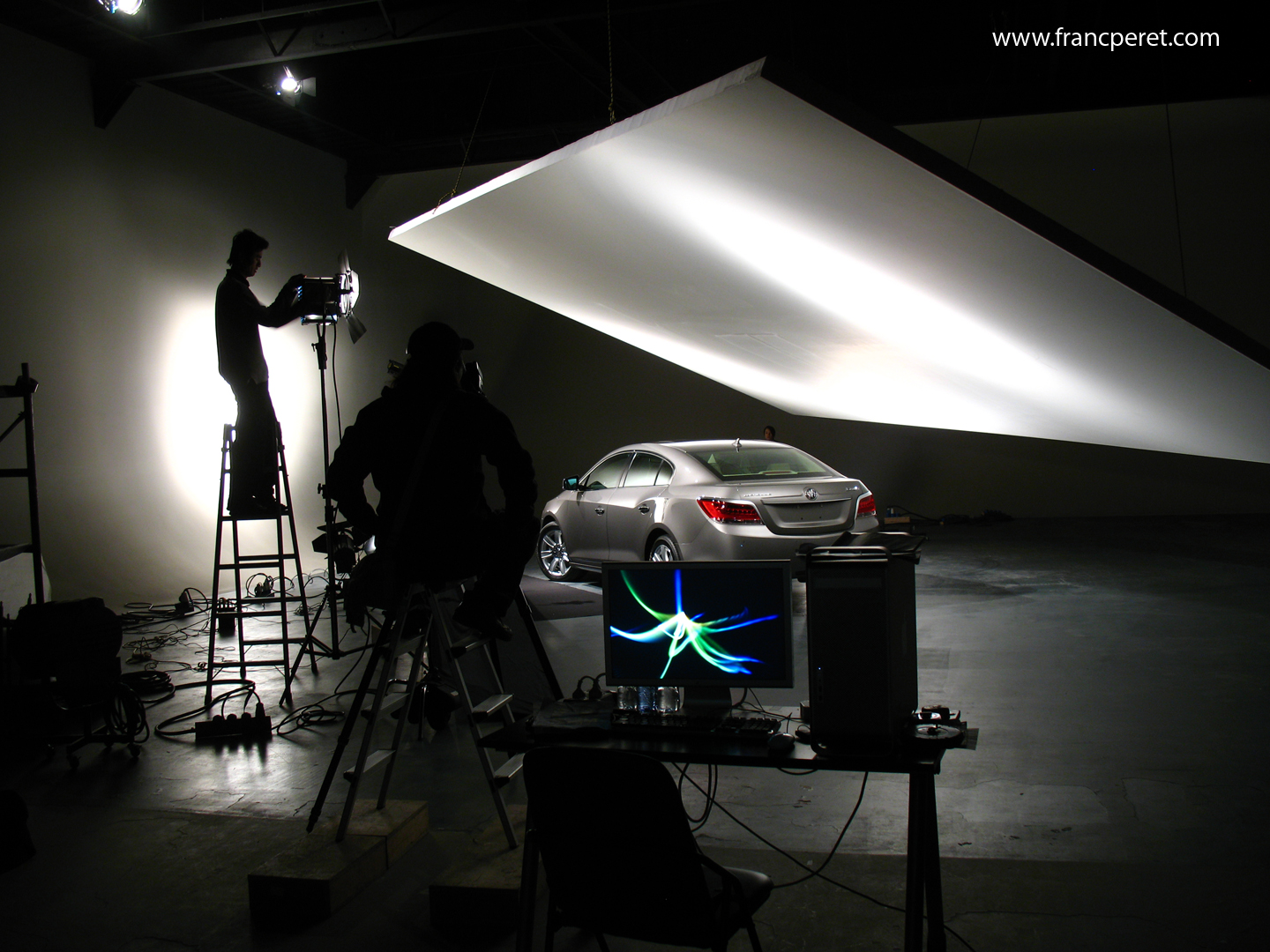 Car commercial pictures set up in Studio