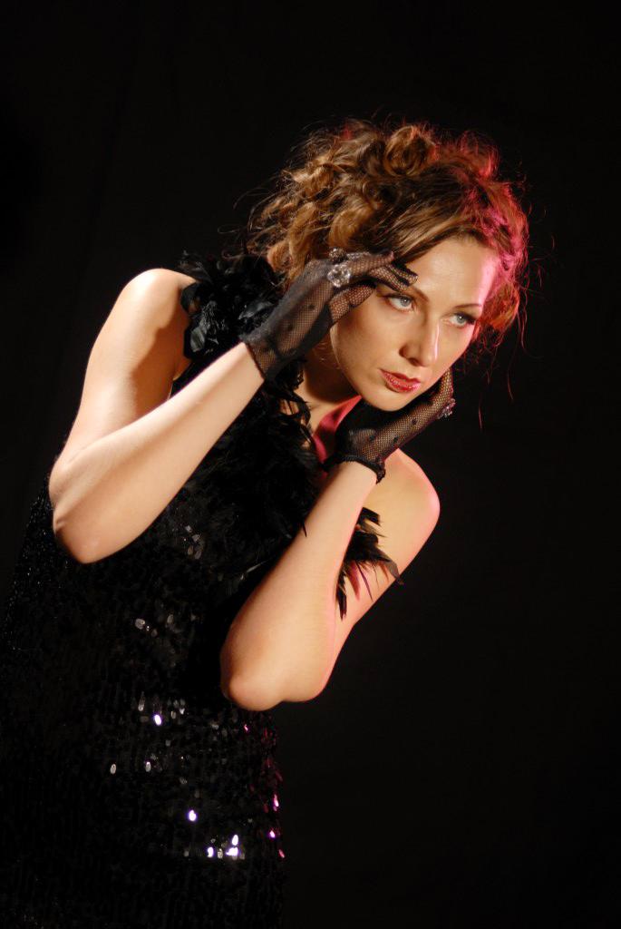 Marlene Dietrich revival modeling  session during Franc's Advanced Class Workshop