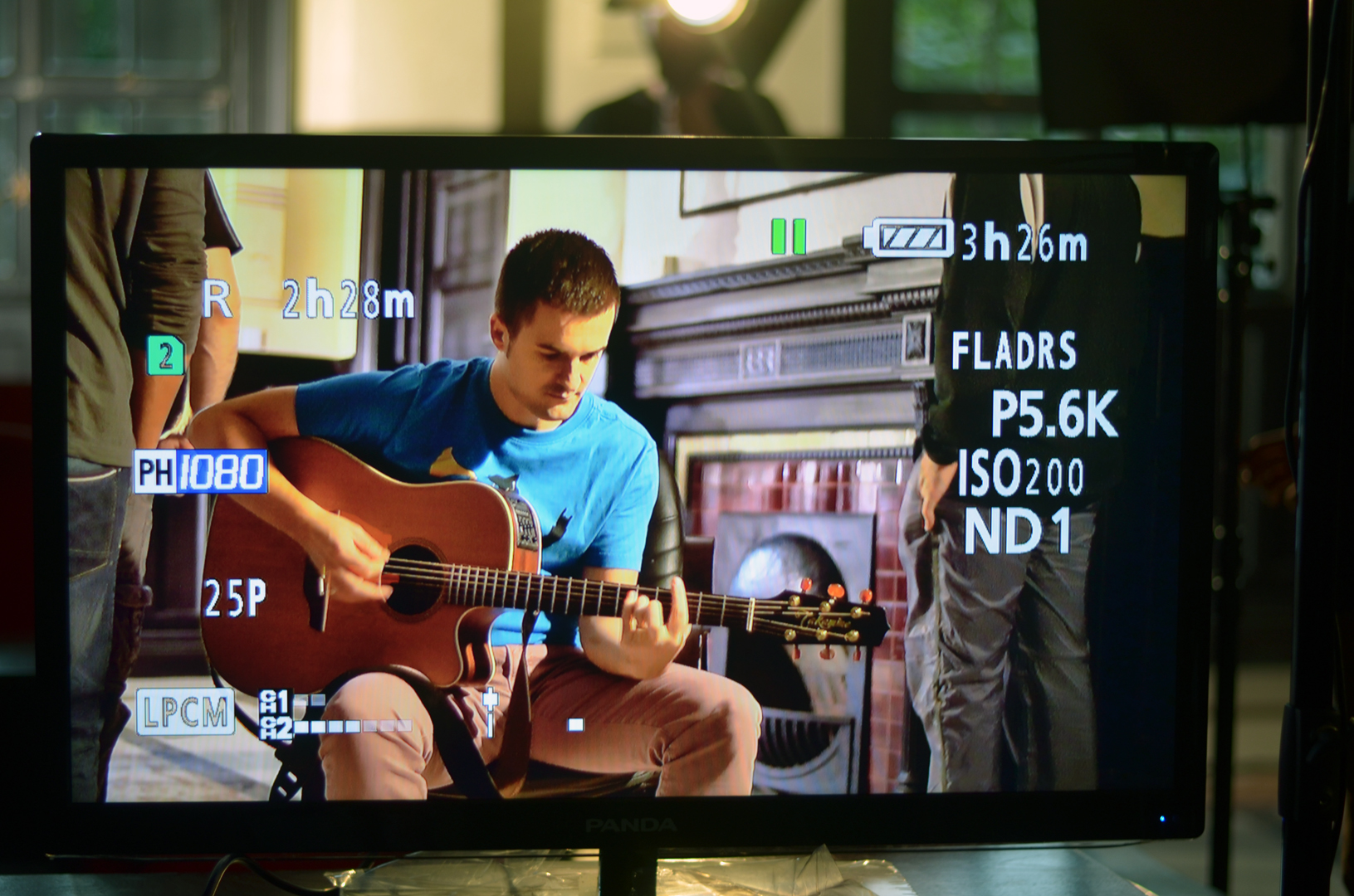 Work in Class is monitored during shooting to share composition and camera set up (photo Diarmuid)
