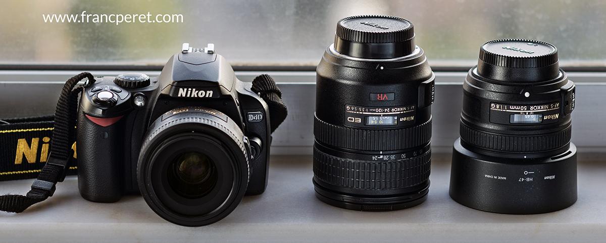 Nikon D40 with 35mm f1.8G + 24-120mm f3.5-5.6G + 50mm f1.8G