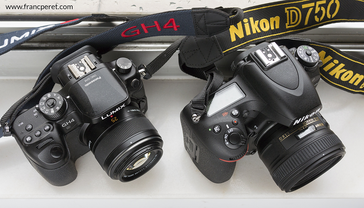 On Photography forums, many are debating on size sensors and number of pixels, but few post do care about ergonomic. I do. I want my camera to feel comfortable in my hand and I am looking for direct controls with the right touch and positioned on the right place. GH4 is more professional than the D750 on that point of view. Any extra feature which help me to work faster and more efficiently is greatly welcome and the swiveling screen of the GH4 is an amazing advantage compare to traditional DSLR. The D750 is the first Nikon FX camera with a tilting screen, but it is nothing comparable.