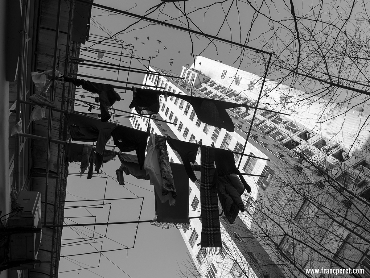 Hanging clothes are also great subject for both B&W or color shots.
