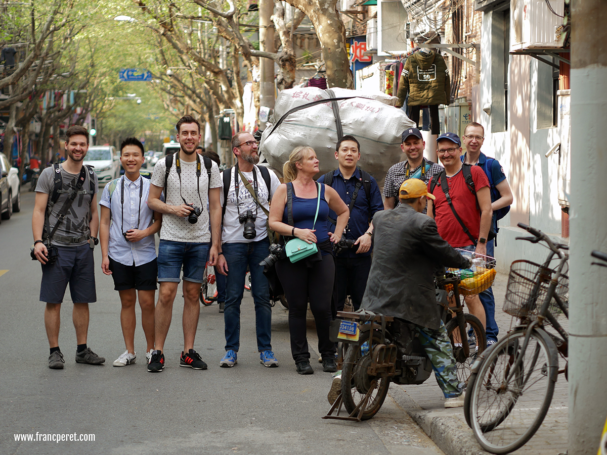 Shanghai is a great place for street photography, an enjoyable activity with a small group.